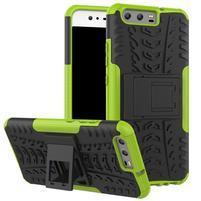 Outdoor odolný obal na mobil Huawei P10 - zelený