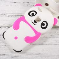 Panda silikonový obal na mobil Huawei P10 Lite - rose