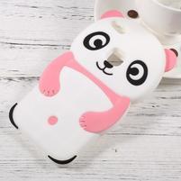 Panda silikonový obal na mobil Huawei P10 Lite - růžový