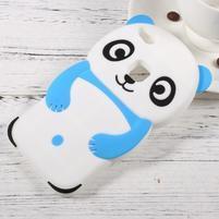 Panda silikonový obal na mobil Huawei P10 Lite - modrý