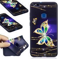 Bossy gelový obal na Huawei P10 Lite - zlatý motýl