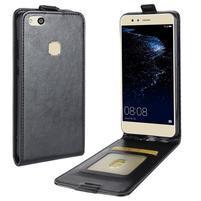Skin flipové PU kožené pouzdro na mobil Huawei P10 Lite - černé