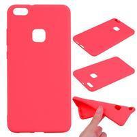 Antiotiskový gelový obal na Huawei P10 Lite - červený