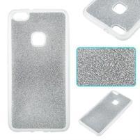 Třpytivý gelový obal se zesíleným obvodem na Huawei P10 Lite - stříbrný