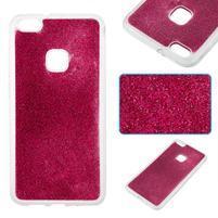 Třpytivý gelový obal se zesíleným obvodem na Huawei P10 Lite - rose