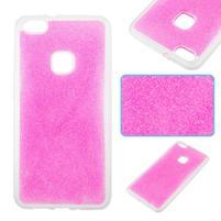 Třpytivý gelový obal se zesíleným obvodem na Huawei P10 Lite - růžový