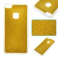 Třpytivý gelový obal se zesíleným obvodem na Huawei P10 Lite - zlatý