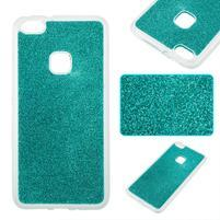 Třpytivý gelový obal se zesíleným obvodem na Huawei P10 Lite - modrozelený