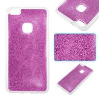 Třpytivý gelový obal se zesíleným obvodem na Huawei P10 Lite - fialový