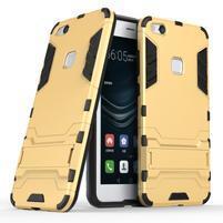 Defender odolný obal na mobil Huawei P10 Lite - zlatý