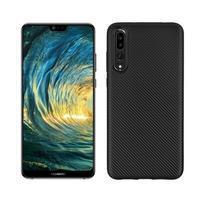 Fiber texturovaný gelový obal na Huawei P20 Pro - černý