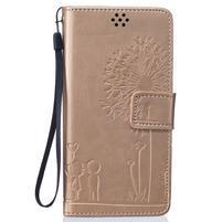 Love peněženkového pouzdro na mobil Huawei P8 Lite - zlaté