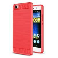 Carbon odolný obal se zesílenými rohy na Huawei P8 Lite - červený
