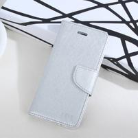 MoonStars peněženkové pouzdro na mobil Huawei P8 Lite - stříbrné