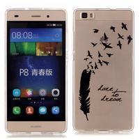 Meffi gelový obal na mobil Huawei P8 Lite - ptáčci