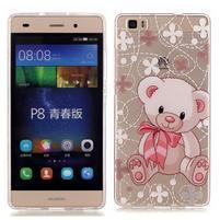 Meffi gelový obal na mobil Huawei P8 Lite - medvídek
