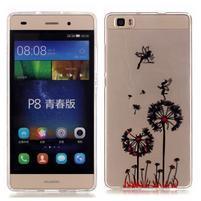 Meffi gelový obal na mobil Huawei P8 Lite - pampelišky