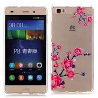 Meffi gelový obal na mobil Huawei P8 Lite - kvetoucí větvička