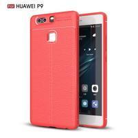 Litch texturovaný odolný gelový obal na Huawei P9 - červený