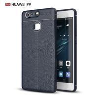 Litch texturovaný odolný gelový obal na Huawei P9 - modrý