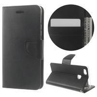 BravoDiary PU kožené pouzdro na mobil Huawei P9 Lite - černé