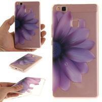 Clear gelový obal na Huawei P9 Lite - fialový květ