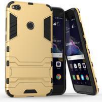 Defender odolný obal se stojánkem na mobil Huawei P9 Lite (2017) - zlatý