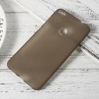 Matný gelový obal na Huawei P9 Lite (2017) - šedý