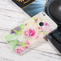 Ultratenký gelový obal na Huawei P9 Lite (2017) - růže