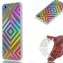 Rainbow gelový obal na Huawei P9 Lite (2017) - čtverce