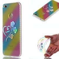 Rainbow gelový obal na Huawei P9 Lite (2017) - srdce