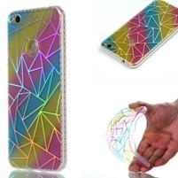 Rainbow gelový obal na Huawei P9 Lite (2017) - triangle