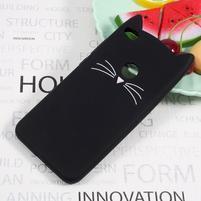 Cat 3D silikonový obal na Huawei P9 Lite (2017) - černý