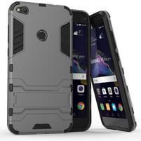 Defender odolný obal se stojánkem na mobil Huawei P9 Lite (2017) - šedý