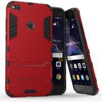 Defender odolný obal se stojánkem na mobil Huawei P9 Lite (2017) - červený
