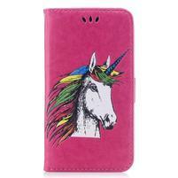 Unicorn PU kožené pouzdro na Huawei P8 Lite - rose
