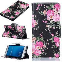 Motive peněženkové pouzdro na Huawei P9 Lite - květy