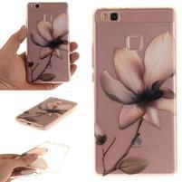 Clear gelový obal na Huawei P9 Lite - květina