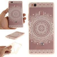 Funs gelový obal na mobil Huawei P9 Lite - bílá mandala