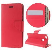 BravoDiary PU kožené pouzdro na mobil Huawei P9 Lite - rose