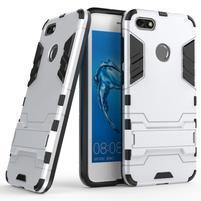 Defender odolný obal se stojánkem na Huawei P9 Lite mini - stříbrný