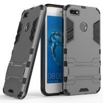 Defender odolný obal se stojánkem na Huawei P9 Lite mini - šedý