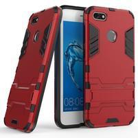 Defender odolný obal se stojánkem na Huawei P9 Lite mini - červený