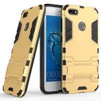 Defender odolný obal se stojánkem na Huawei P9 Lite mini - zlatý