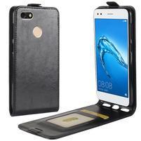 Flipové PU kožené pouzdro na Huawei P9 Lite mini - černé