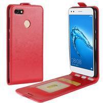 Flipové PU kožené pouzdro na Huawei P9 Lite mini - červené