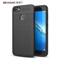 Litch odolný gelový obal s texturovanými zády na Huawei P9 Lite mini - černý