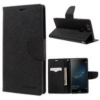 Diary PU kožené pouzdro na Huawei P9 Plus - černé