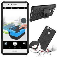 Outdoor odolný obal se stojánkem na Huawei P9 Plus - černý