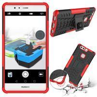 Outdoor odolný obal se stojánkem na Huawei P9 Plus - červený